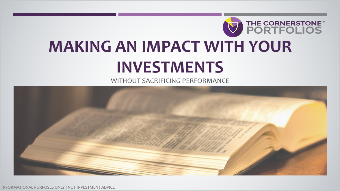 How to make an impact with your investments without sacrificing performance